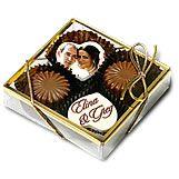 BT4 color belgium chocolate truffles 4 pc set